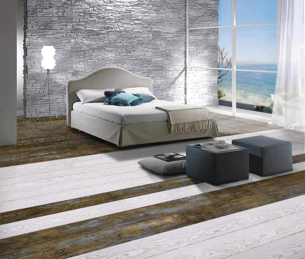 Dormitor amenajat, cu parchet antichizat. Iată cum repari un parchet care scârţâie