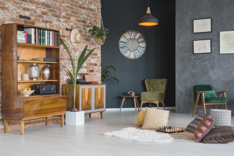 Elementele de design interior pot fi combinate, dar cu măsură, ca sa obțtii un design interior potrivit unei case de vis