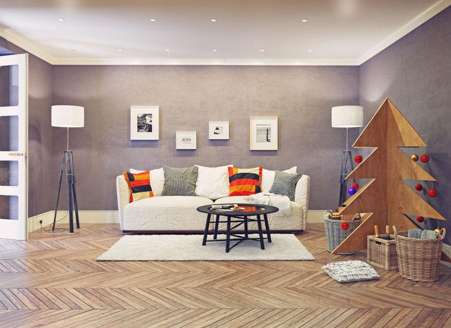 Brad de Crăciun din OSB - un element decorativ pentru un design interior cu personalitate