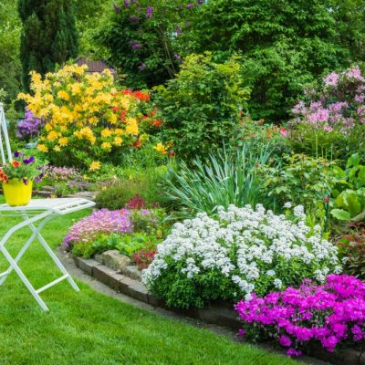 Gradina cu flori colorate - amenajari gradini de vis pentru casa ta