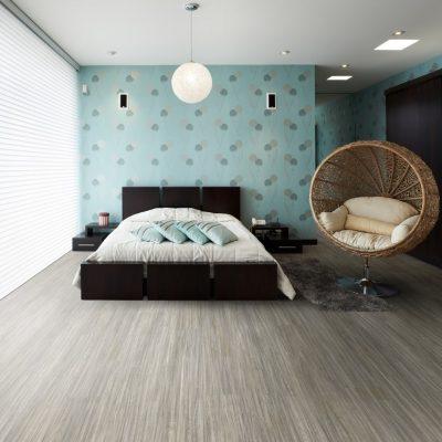 Dormitor mic, cu pat și un perete verde - amenajări