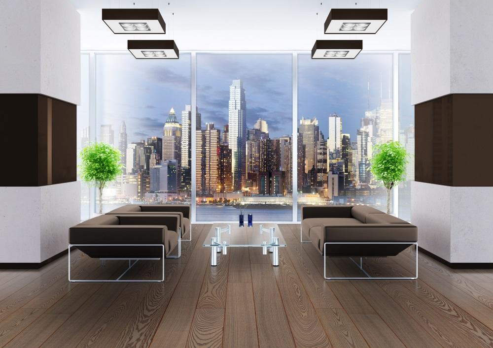 Camera cu mobila simpla si culori in alb si maro