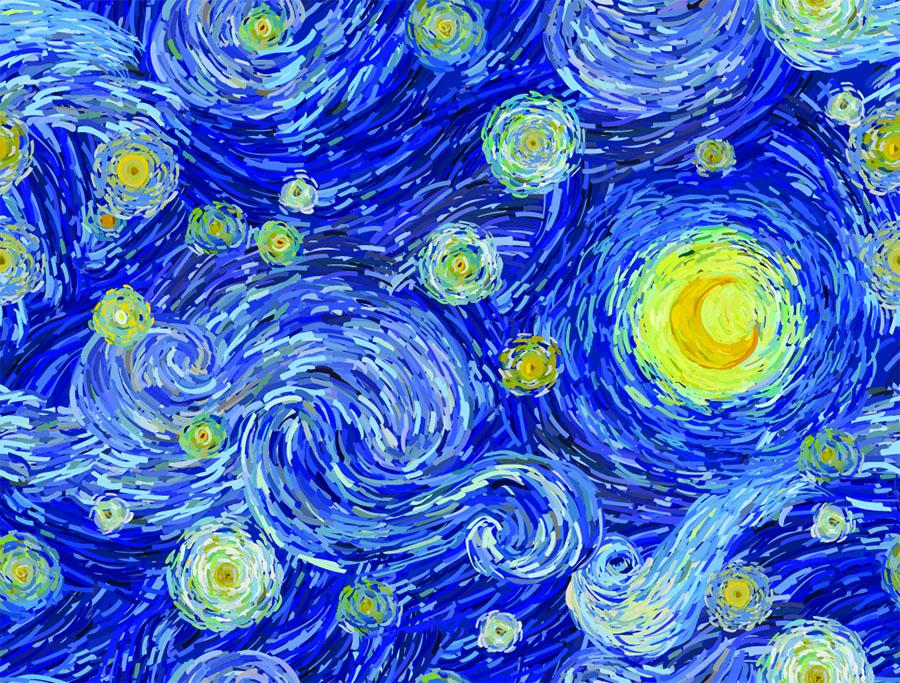 """""""Noaptea înstelată"""" - Van Gogh"""